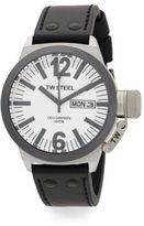 TW Steel CEO Canteen Stainless Steel Leather Strap Watch