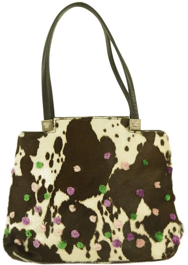 Gianni Versace Pony-style calfskin bag