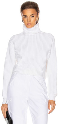 RtA Beau Turtleneck Sweater in White | FWRD