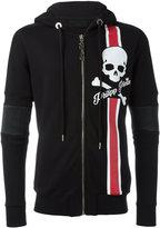Philipp Plein zip-up printed hoodie - men - Cotton/Polyester/Polyurethane - M