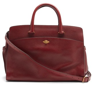 Metier - Private Eye Grained-leather Shoulder Bag - Burgundy