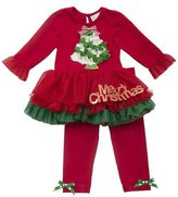 "Rare Editions Red Tree ""Merry Christmas"" Tutu Legging Set"