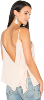 WYLDR Cross Back Wrap Tank in Blush