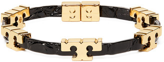 Tory Burch Serif-T Stackable Embossed Bracelet
