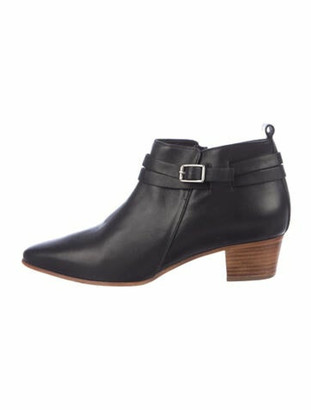 Alberto Fermani Leather Leather Trim Embellishment Boots Black