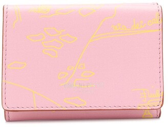 Emilio Pucci Sketch Print Tri-Fold Wallet