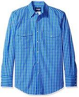 Wrangler Men's Wrinkle Resist Two Pocket Snap Front Long Sleeve Shirt