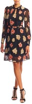 Nicole Miller Embroidered Flowers Dress