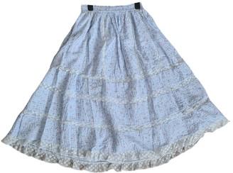 LoveShackFancy Blue Cotton Skirt for Women