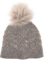 Mint Velvet Mocha Metallic Cable Knit Hat