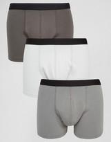 Asos Trunks In Gray 3 Pack