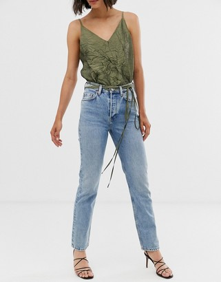 And other stories & slim leg jeans in blue