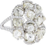 Diamond in the Rough 18K Diamond Cluster Cocktail Ring
