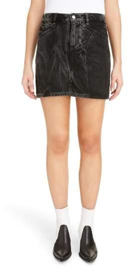 Givenchy Marble Wash Denim Skirt