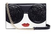 Alice + Olivia 'Stace Face' glitter leather crossbody wallet