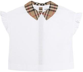 BURBERRY KIDS Cotton-jersey shirt