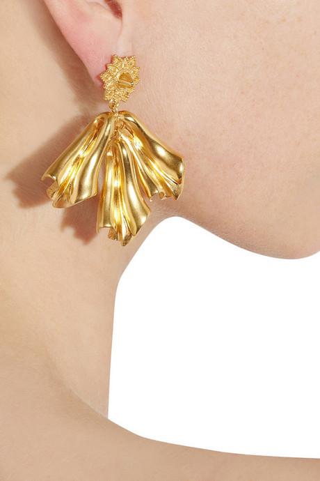 Sophia Kokosalaki Gold-plated silver drop earrings