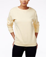 Karen Scott Petite Long-Sleeve Fleece Top, Only at Macy's