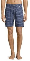 Peter Millar Manege Printed Swim Trunks, Blue
