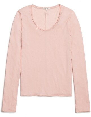 Rag & Bone Gaia Organic Pima Cotton Long Sleeve T-Shirt