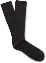 Mr. Gray - Textured-knit Socks