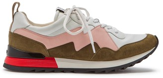 Mulberry MY-1 Degrade Lace-up Sneaker Pink and Khaki Soft Lamb Nappa