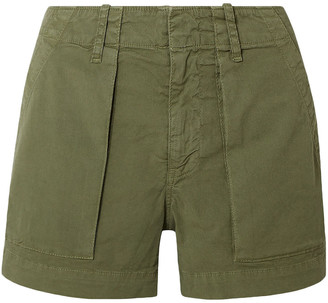 Nili Lotan Cotton-blend Twill Shorts