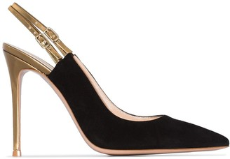 Gianvito Rossi 115mm Pointed Slingback Pumps
