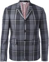 Thom Browne checked blazer - men - Cotton/Cupro/Wool - 1