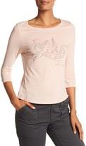 Rebecca Taylor Long Sleeve La Vie Logo Jersey