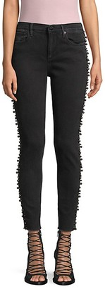 Driftwood Jackie Faux Pearl-Embellished Ankle Skinny Jeans