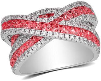 Diana M Fine Jewelry 18K 4.02 Ct. Tw. Diamond & Ruby Ring