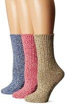 Sperry Women's Ragg Crew Socks 3 Pair Gift Box