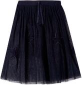 Stella McCartney Amalie Skirt with Long Tulle Stars Overlay in Navy