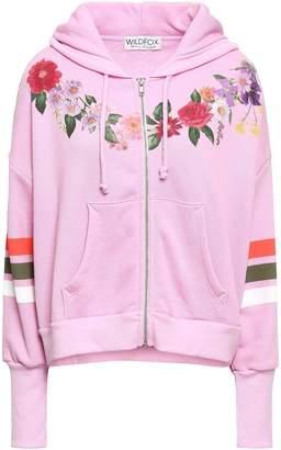 Wildfox Couture Printed Fleece Hooded Sweatshirt