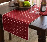 Pottery Barn Polka Dot Embroidered Table Runner