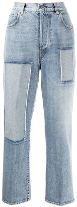 Golden Goose Kim panelled straight-leg jeans