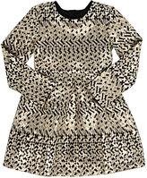 Billieblush GEOMETRIC-PATTERN LAMÉ DRESS