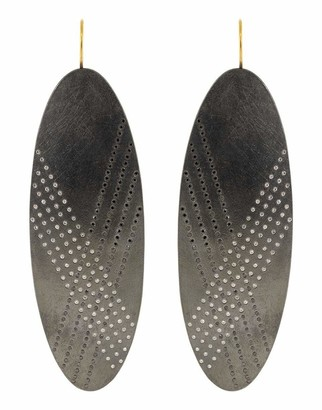 Todd Reed Black and White Diamond Drop Earring