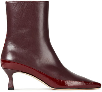 Wandler Bente Color-block Leather Ankle Boots
