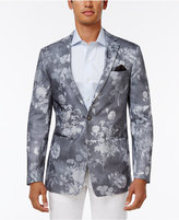 Tallia Men's Big & Tall Slim-Fit Gray Floral-Print Sport Coat
