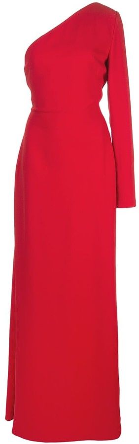 Carolina Herrera One-Shoulder Silk Gown