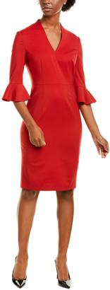 Escada Dinfon Wool-Blend Sheath Dress