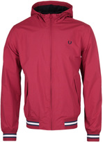 Fred Perry Brentham Rich Red Hooded Mesh Jacket