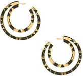 House Of Harlow Nelli Large Hoop Earring in Metallic Gold.