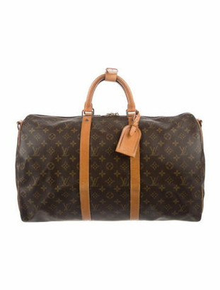 Louis Vuitton Vintage Monogram Keepall Bandouliere 50 Brown
