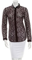 Carven Lace Button-Up Top w/ Tags