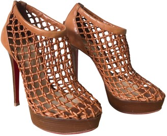 Christian Louboutin Brown Leather Ankle boots