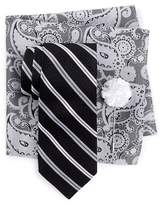 Ben Sherman Sussex Stripe Tie, Pocket Square, & Lapel Stick Pin