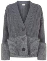 Moncler Wool-Cashmere Knit Cardigan